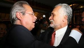 José Genoíno e José Dirceu, personagens da história brasileira, que lutaram contra a ditadura e ajudaram a construir a vitória de Lula em 2002