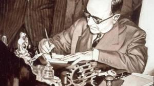 Getúlio Vargas assina a Lei 2004, no dia 3 de outubro de 1953, a certidão de nascimento da Petrobras